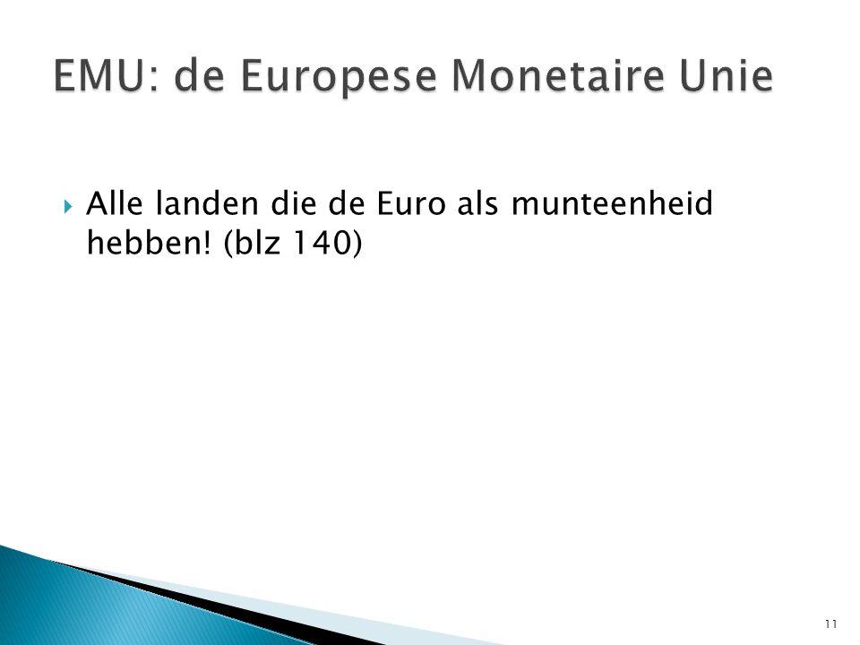 EMU: de Europese Monetaire Unie
