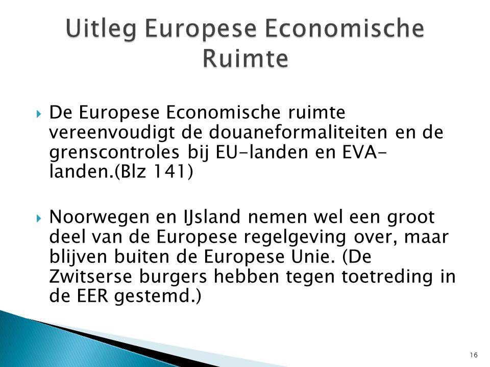 Uitleg Europese Economische Ruimte