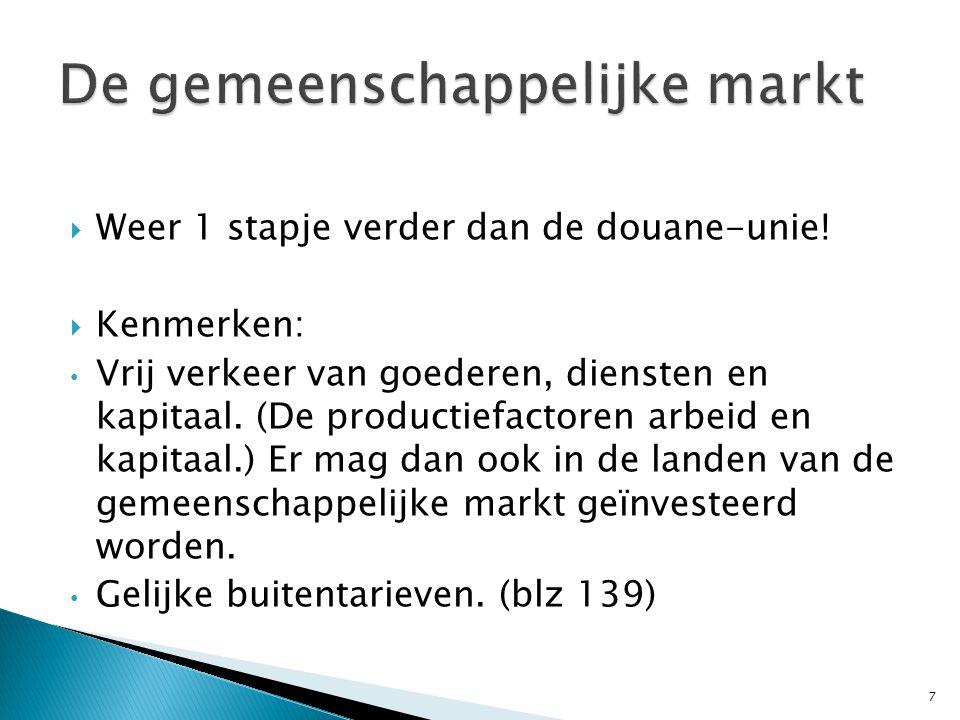 De gemeenschappelijke markt