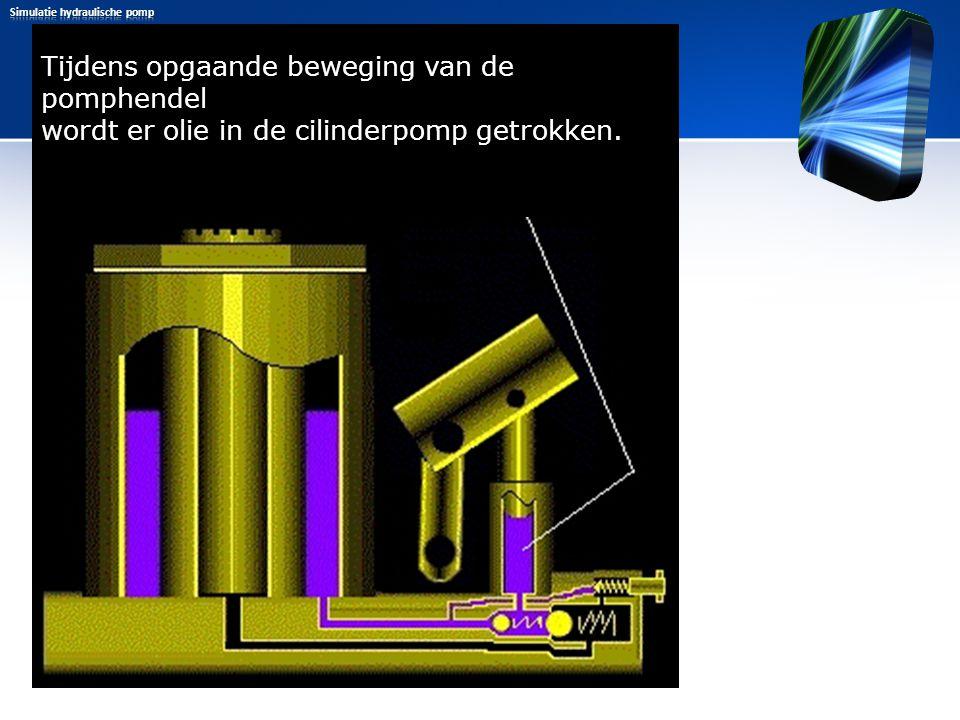 Simulatie hydraulische pomp