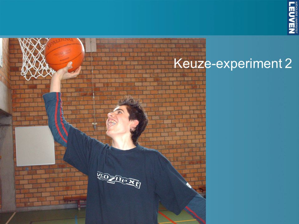 Keuze-experiment 2