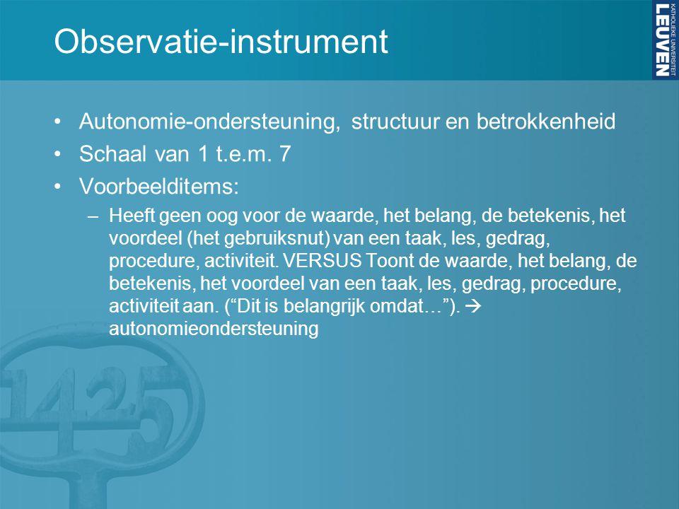 Observatie-instrument