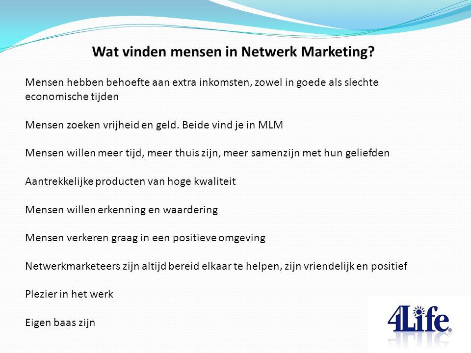 Wat vinden mensen in Netwerk Marketing