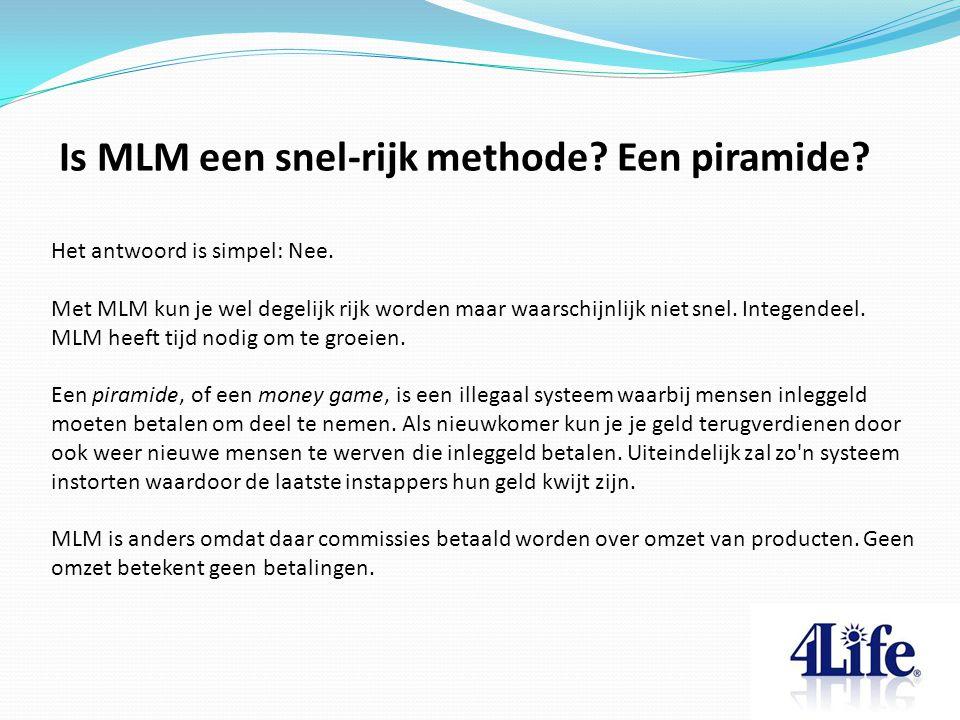 Is MLM een snel-rijk methode Een piramide