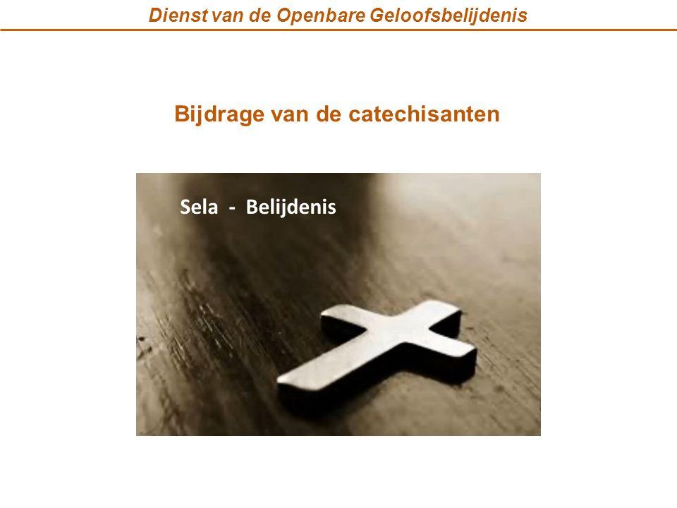 Dienst van de Openbare Geloofsbelijdenis Bijdrage van de catechisanten