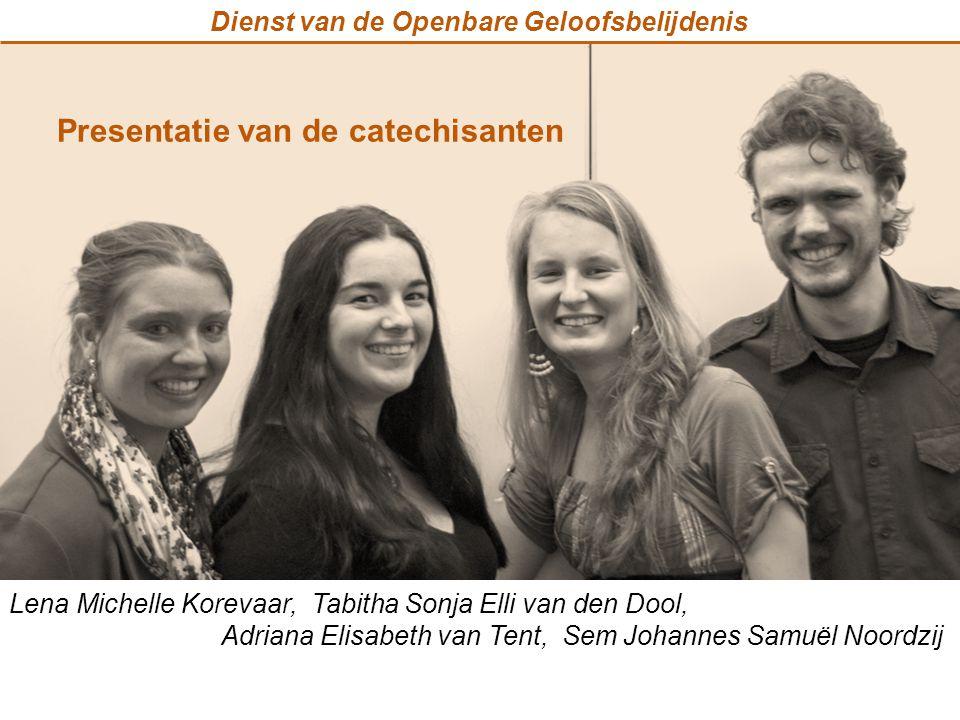 Presentatie van de catechisanten