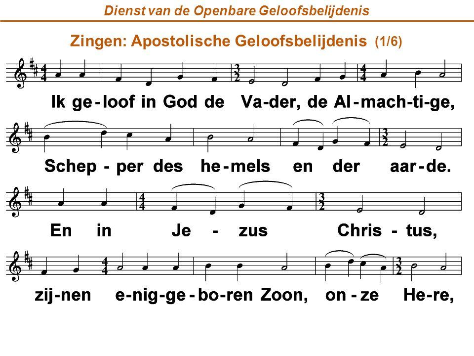 Zingen: Apostolische Geloofsbelijdenis (1/6)