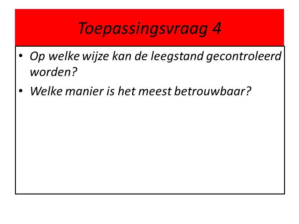 Toepassingsvraag 4 Op welke wijze kan de leegstand gecontroleerd worden.