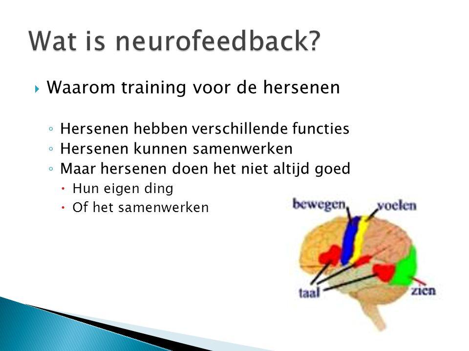 Wat is neurofeedback Waarom training voor de hersenen