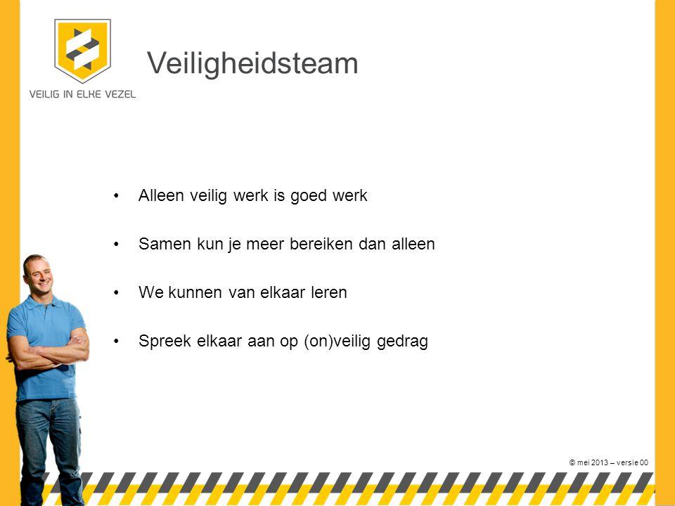 Veiligheidsteam Alleen veilig werk is goed werk