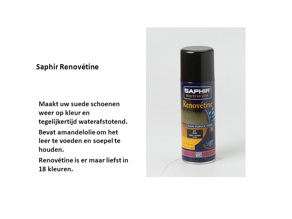 Saphir Renovétine Maakt uw suede schoenen weer op kleur en tegelijkertijd waterafstotend.