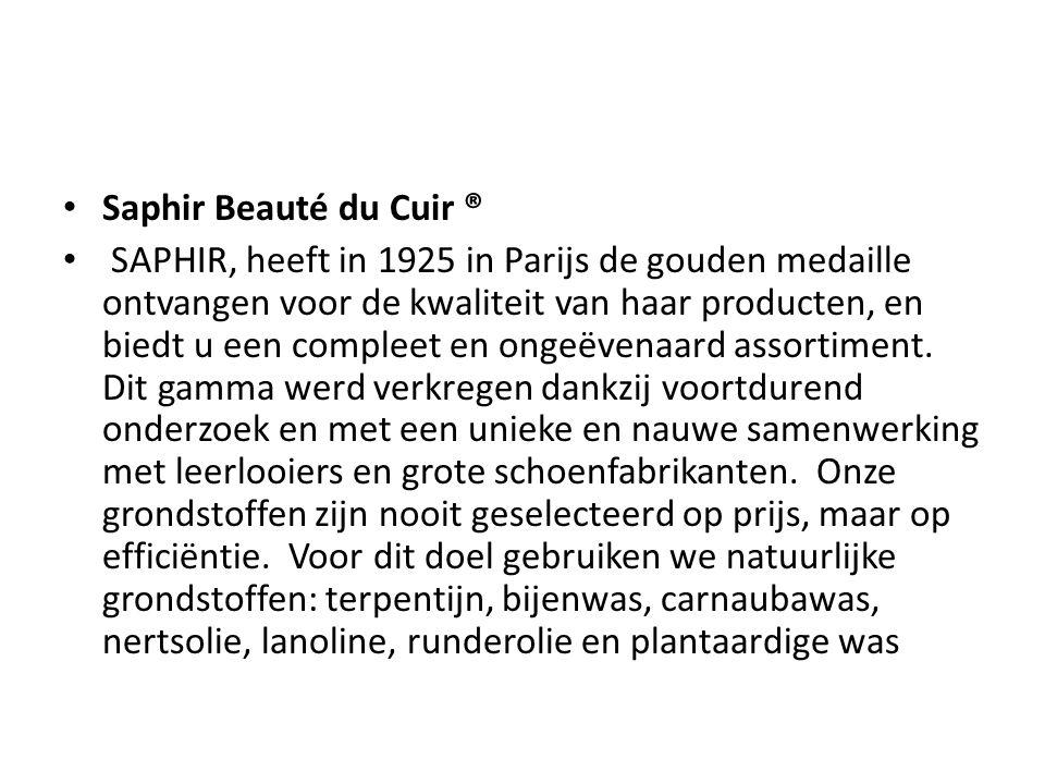 Saphir Beauté du Cuir ®