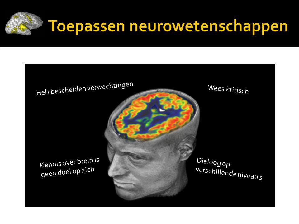 Toepassen neurowetenschappen