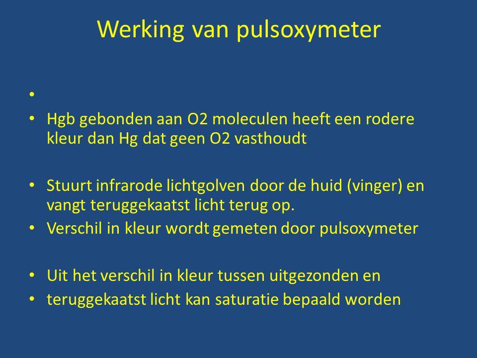 Werking van pulsoxymeter