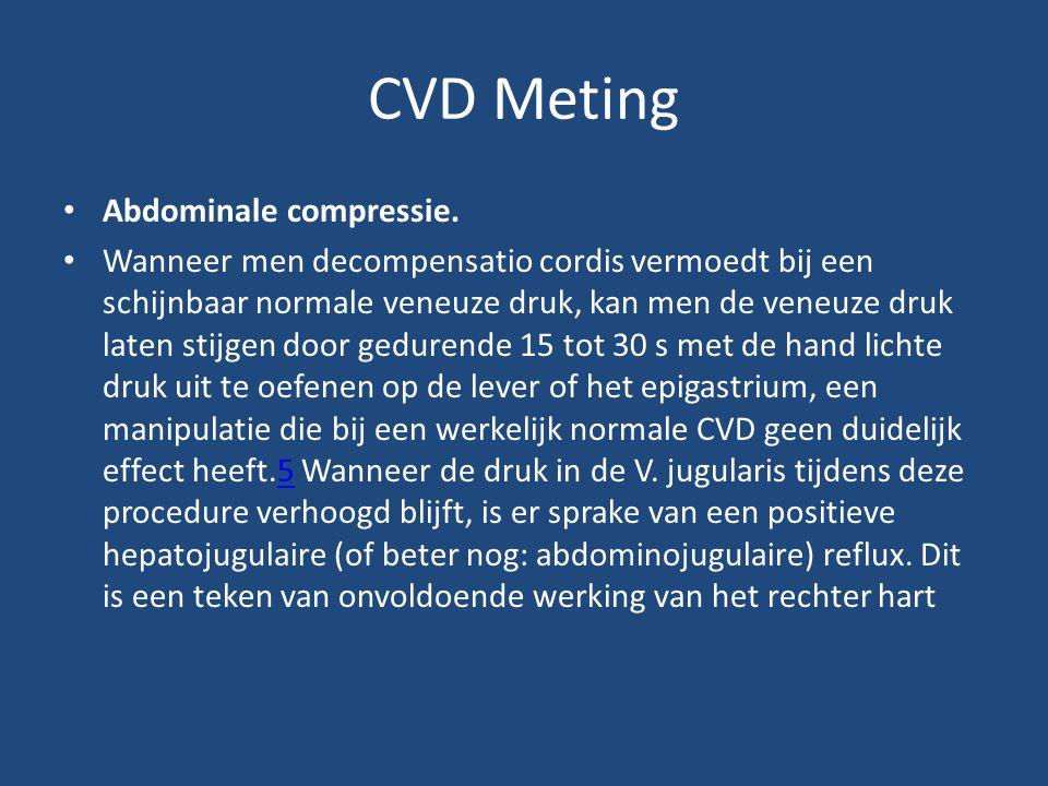 CVD Meting Abdominale compressie.