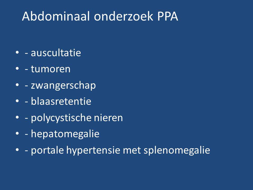 Abdominaal onderzoek PPA