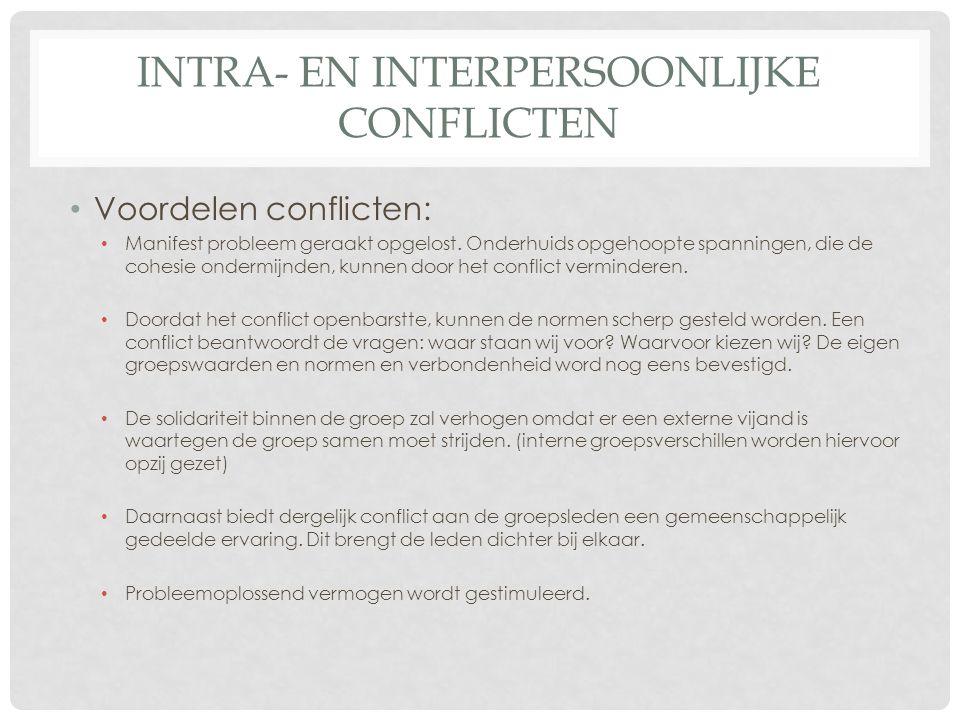 intra- en interpersoonlijke conflicten