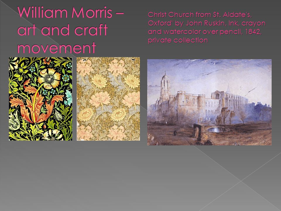William Morris – art and craft movement