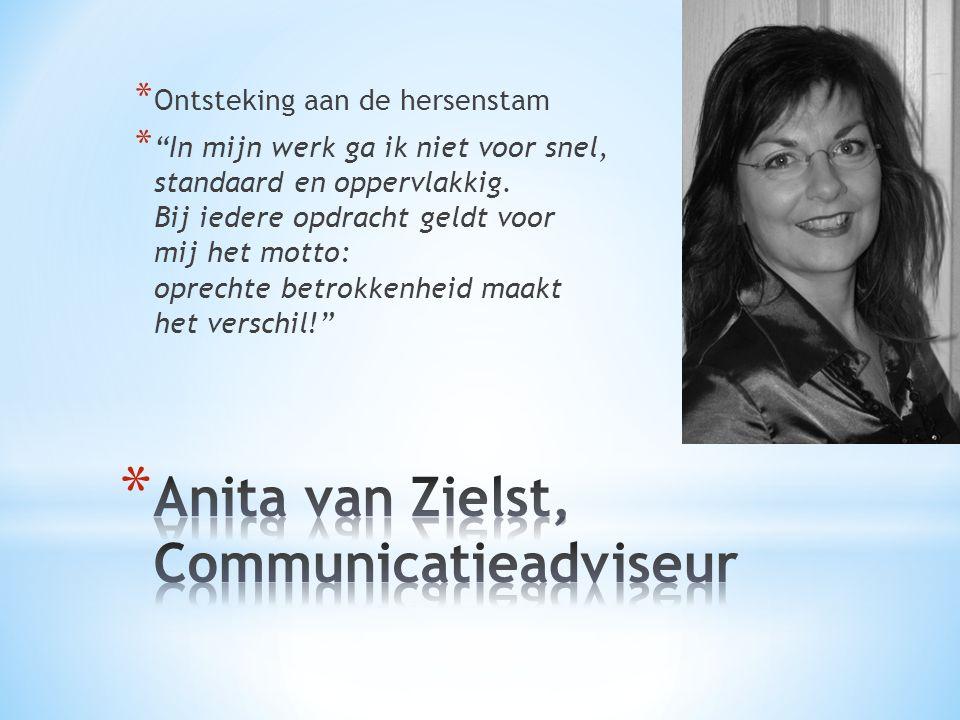 Anita van Zielst, Communicatieadviseur