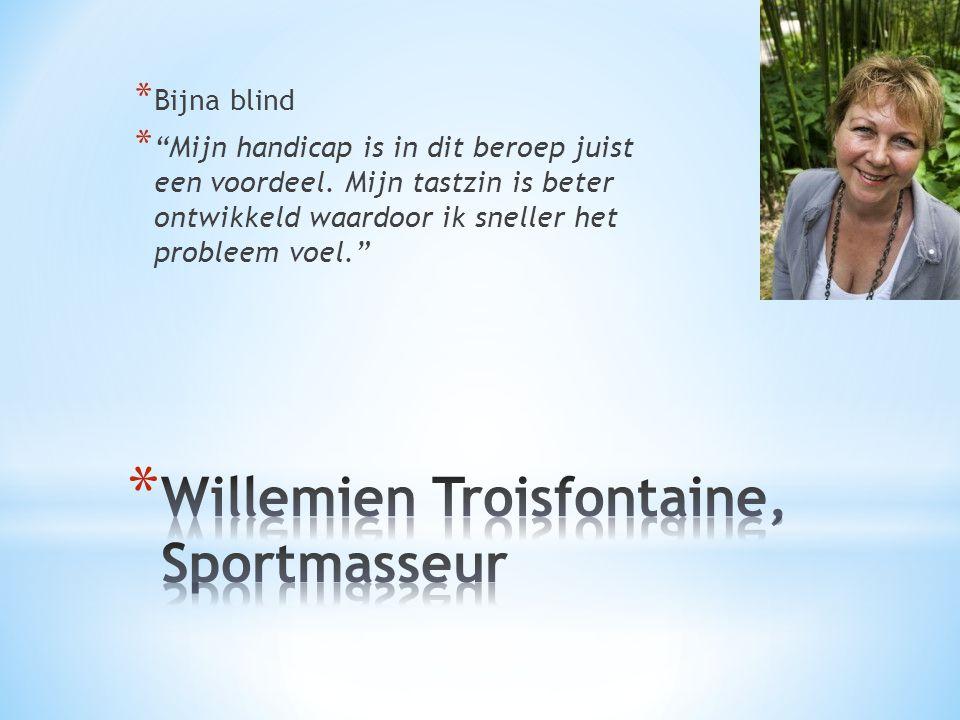 Willemien Troisfontaine, Sportmasseur