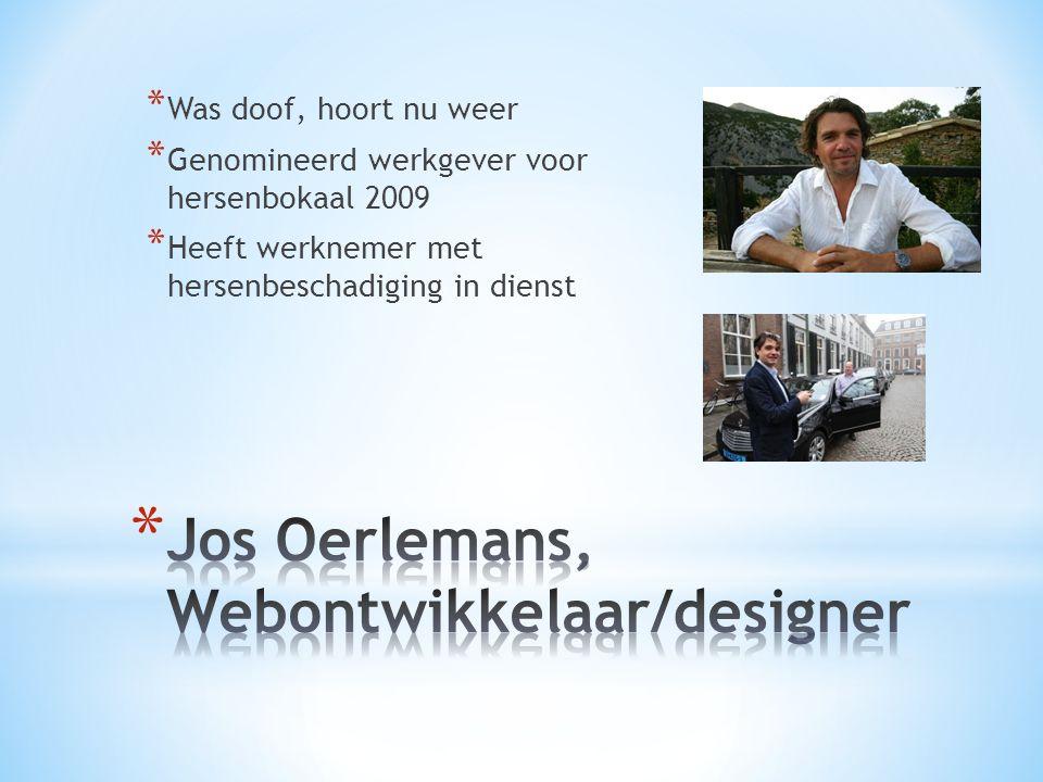 Jos Oerlemans, Webontwikkelaar/designer