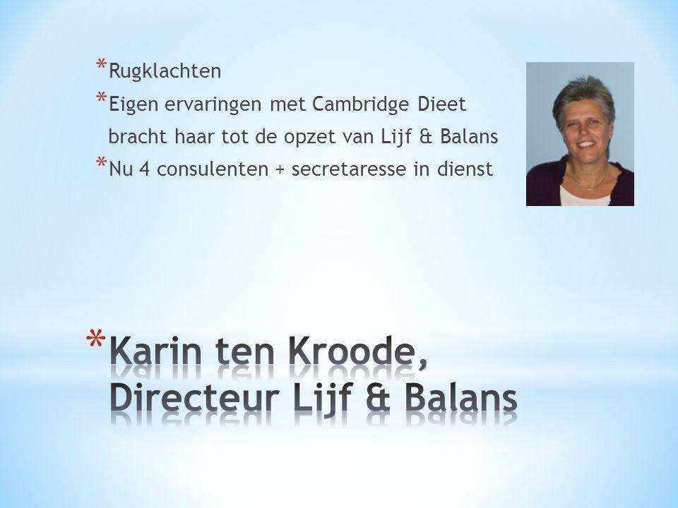 Karin ten Kroode, Directeur Lijf & Balans