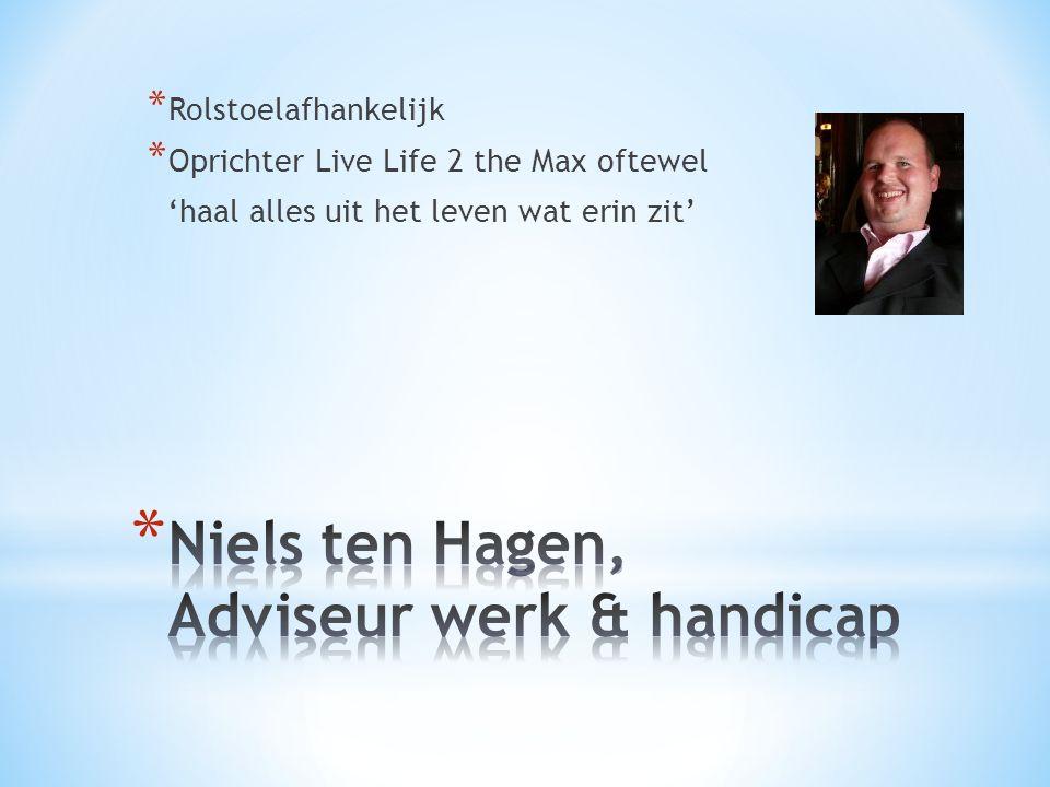 Niels ten Hagen, Adviseur werk & handicap