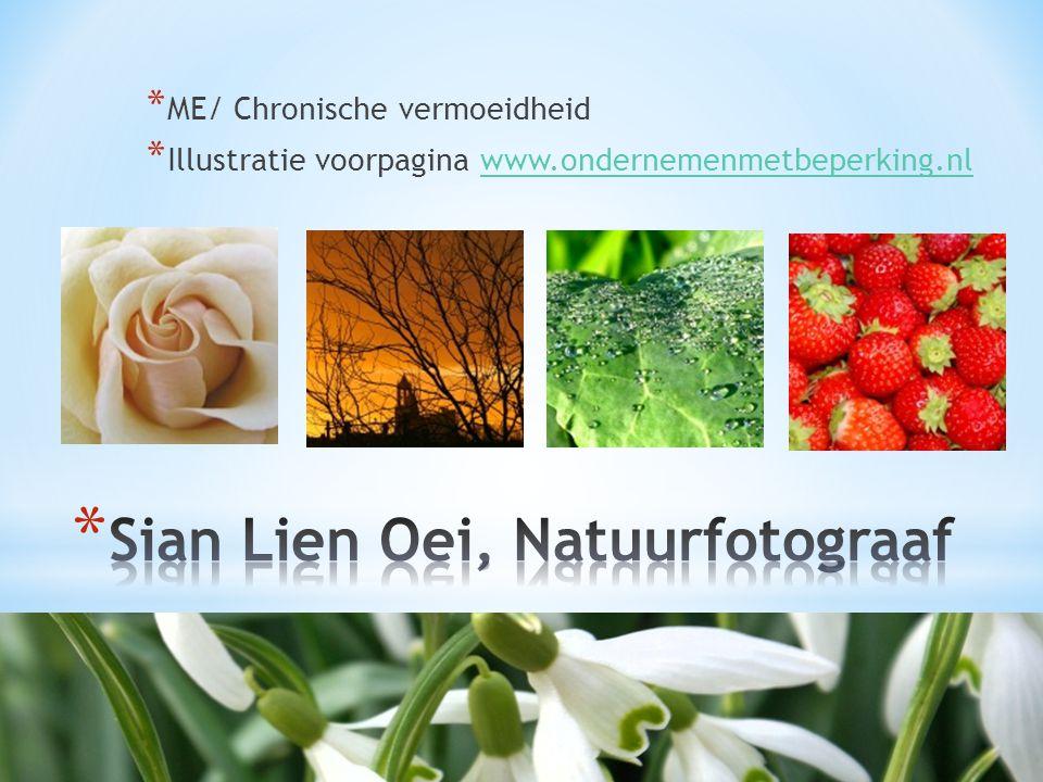 Sian Lien Oei, Natuurfotograaf
