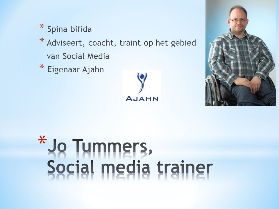 Jo Tummers, Social media trainer