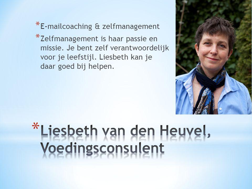 Liesbeth van den Heuvel, Voedingsconsulent