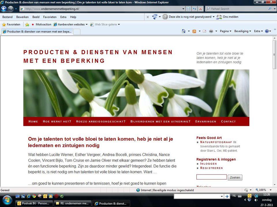 Meer weten Kijk op www.ondernemenmetbeperking.nl