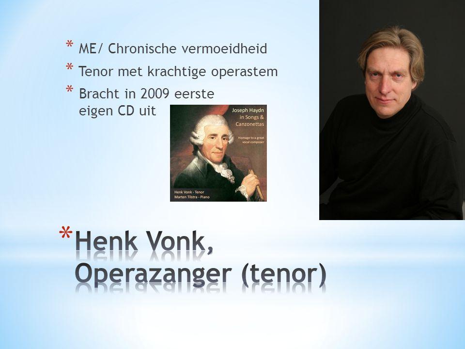 Henk Vonk, Operazanger (tenor)