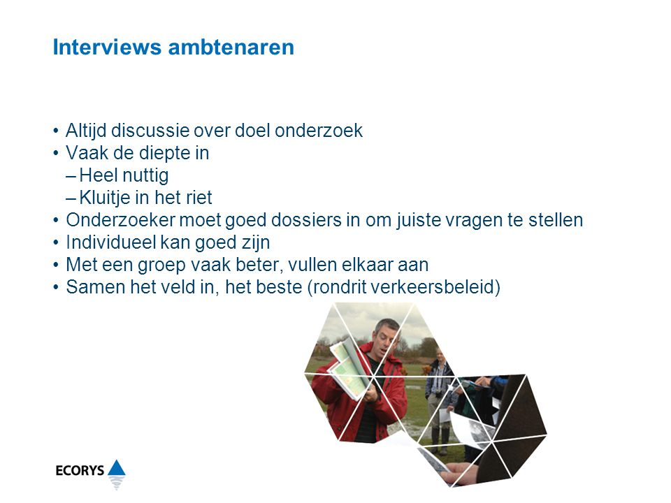 Interviews ambtenaren
