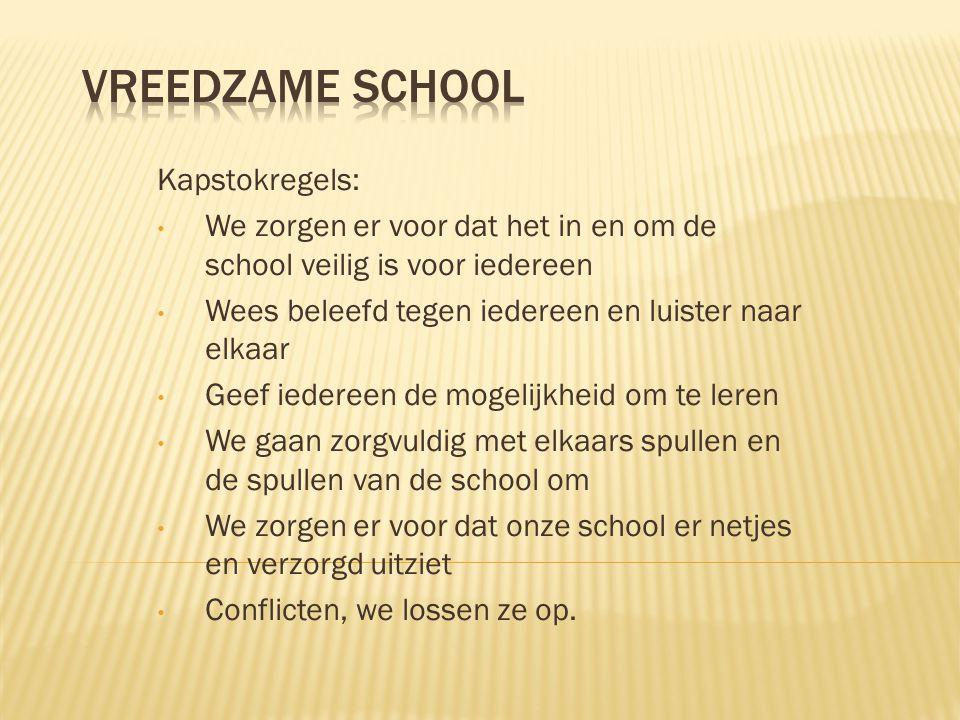 Vreedzame school Kapstokregels: