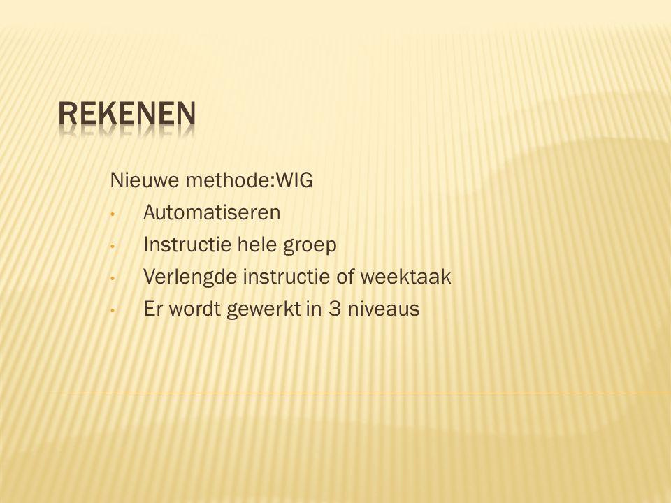 Rekenen Nieuwe methode:WIG Automatiseren Instructie hele groep