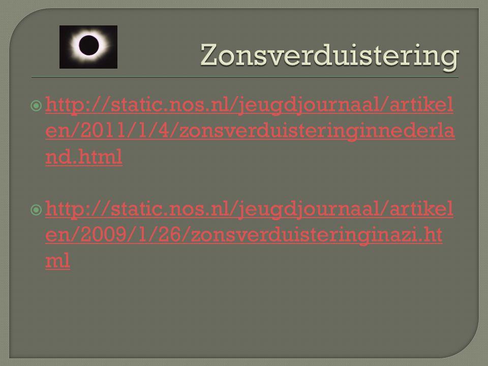 Zonsverduistering http://static.nos.nl/jeugdjournaal/artikelen/2011/1/4/zonsverduisteringinnederland.html.