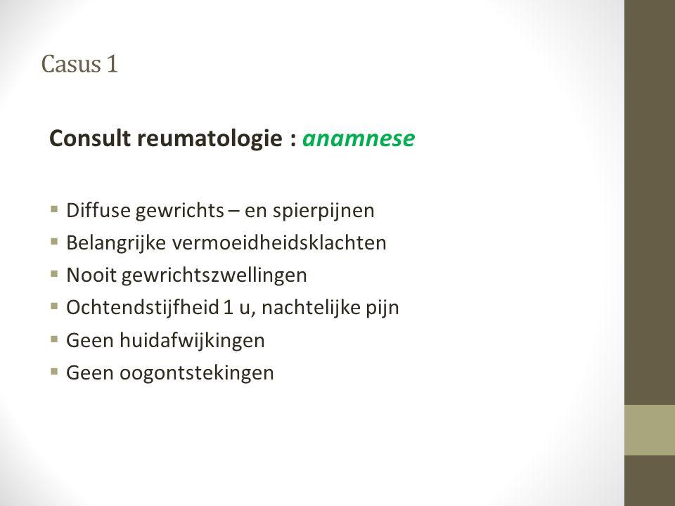 Consult reumatologie : anamnese