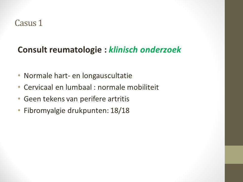 Consult reumatologie : klinisch onderzoek