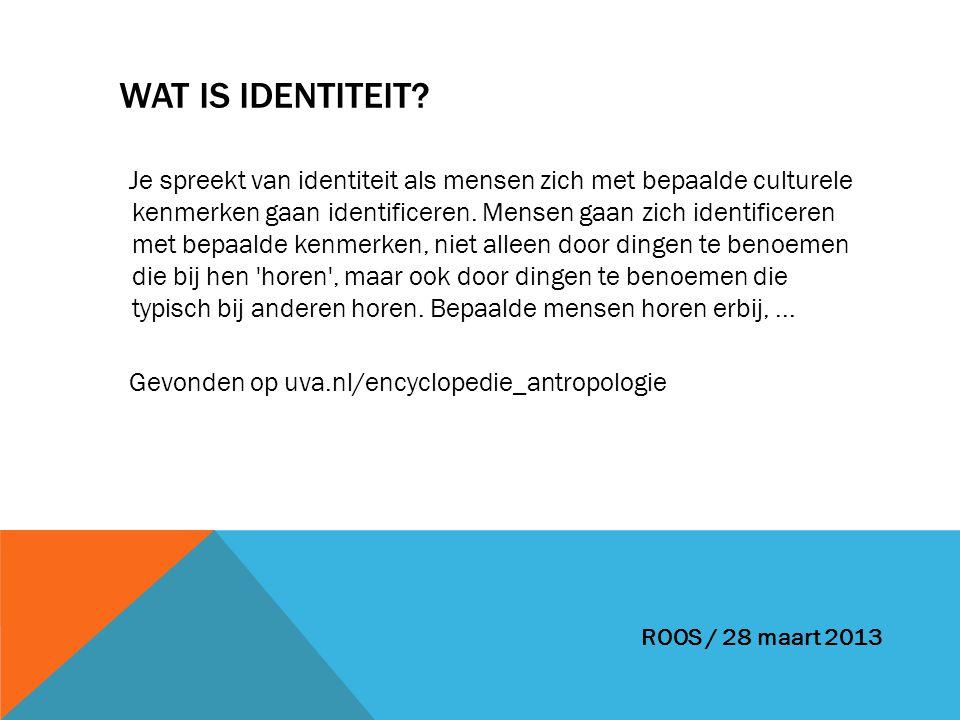 Wat is Identiteit