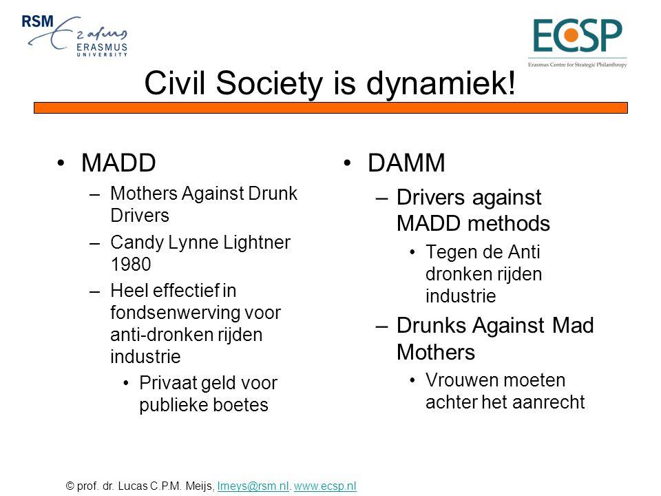 Civil Society is dynamiek!