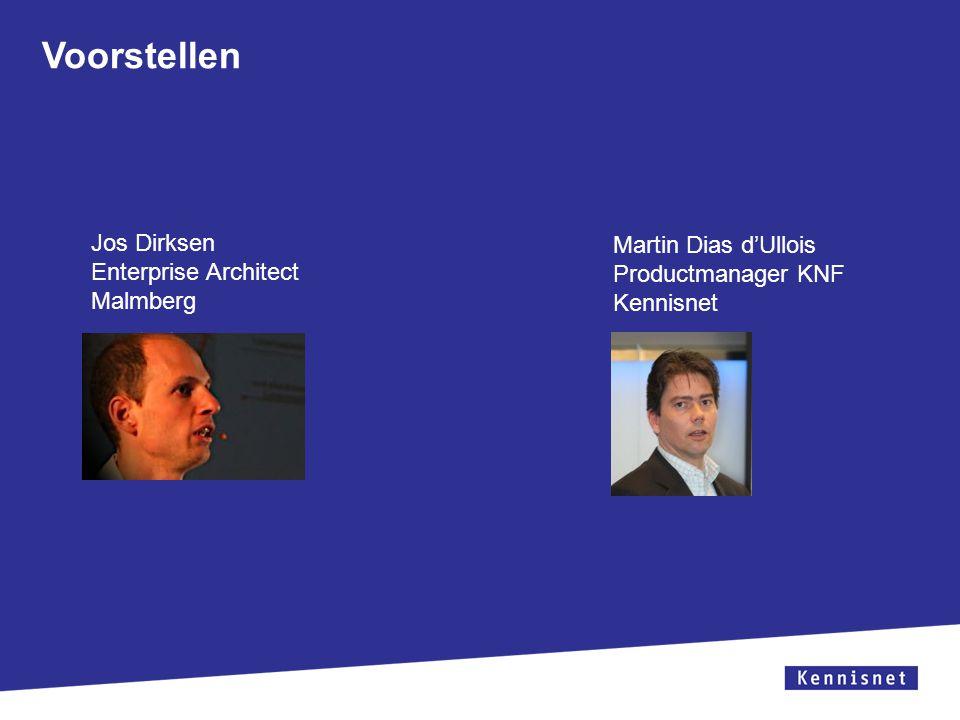 Voorstellen Jos Dirksen Martin Dias d'Ullois Enterprise Architect