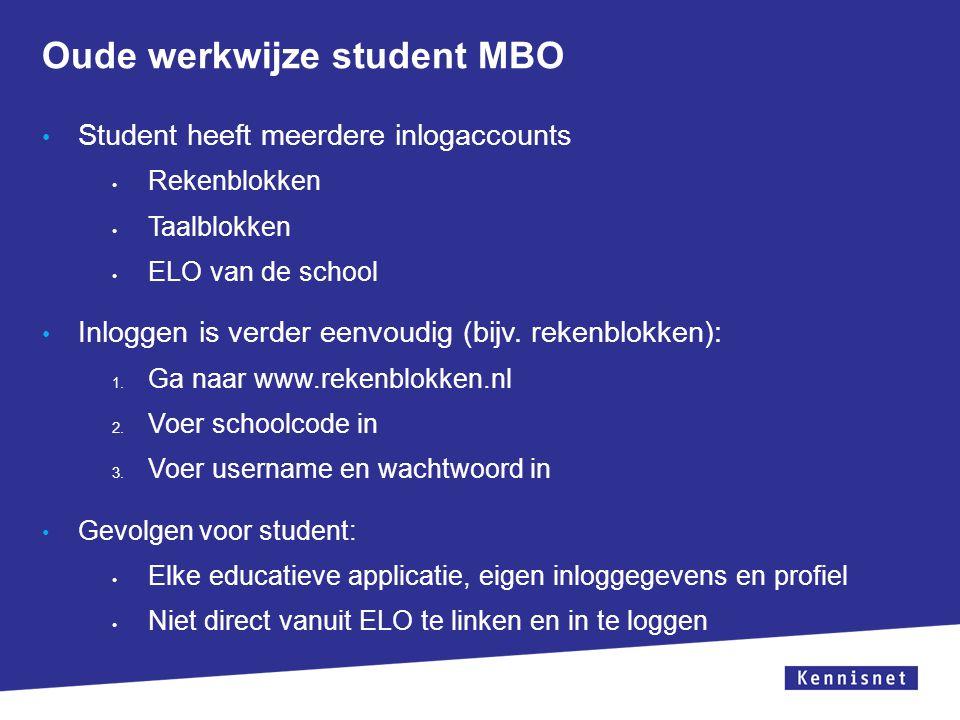 Oude werkwijze student MBO