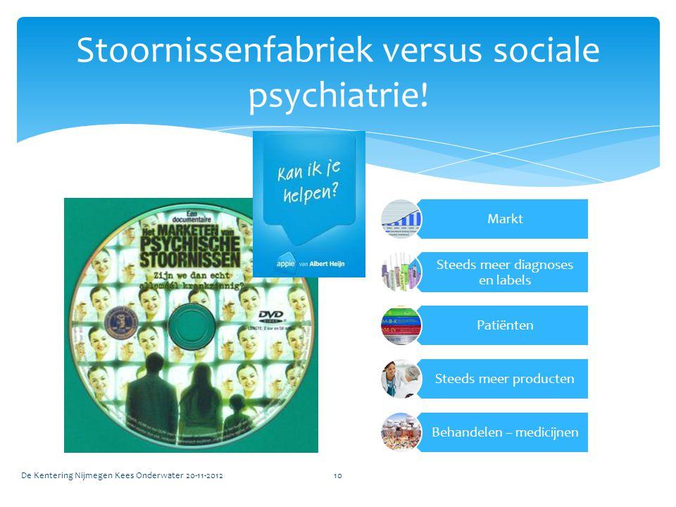 Stoornissenfabriek versus sociale psychiatrie!