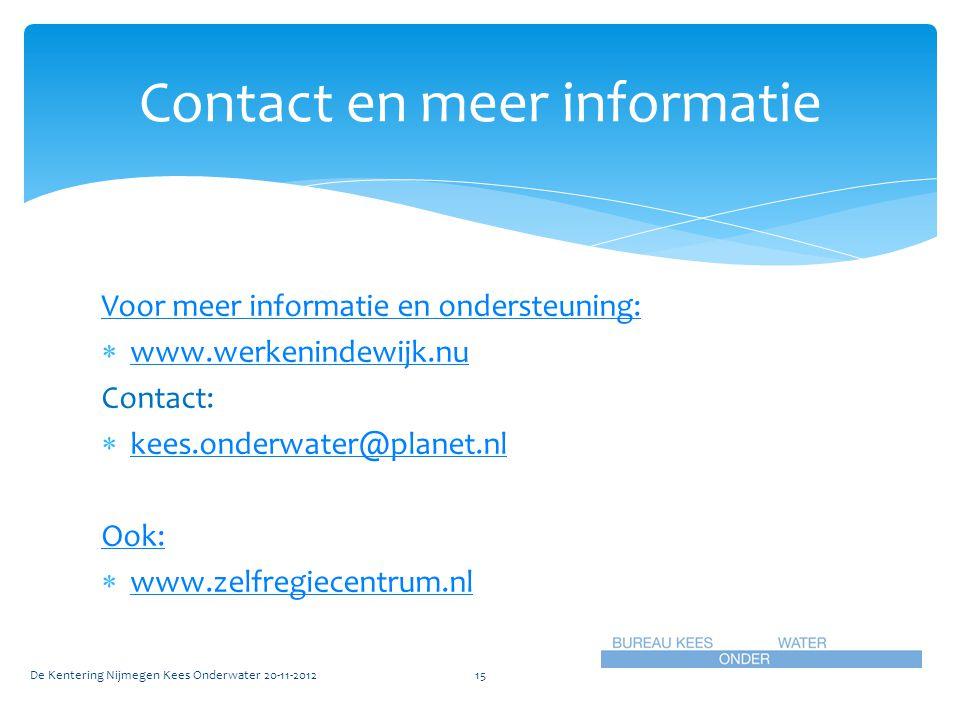 Contact en meer informatie