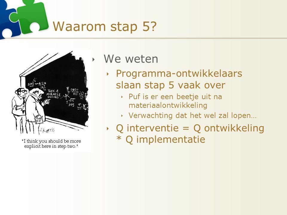 Waarom stap 5 We weten Programma-ontwikkelaars slaan stap 5 vaak over