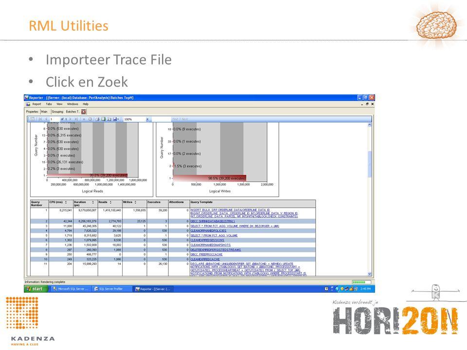 RML Utilities Importeer Trace File Click en Zoek