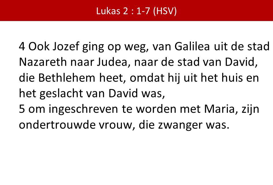 Lukas 2 : 1-7 (HSV)