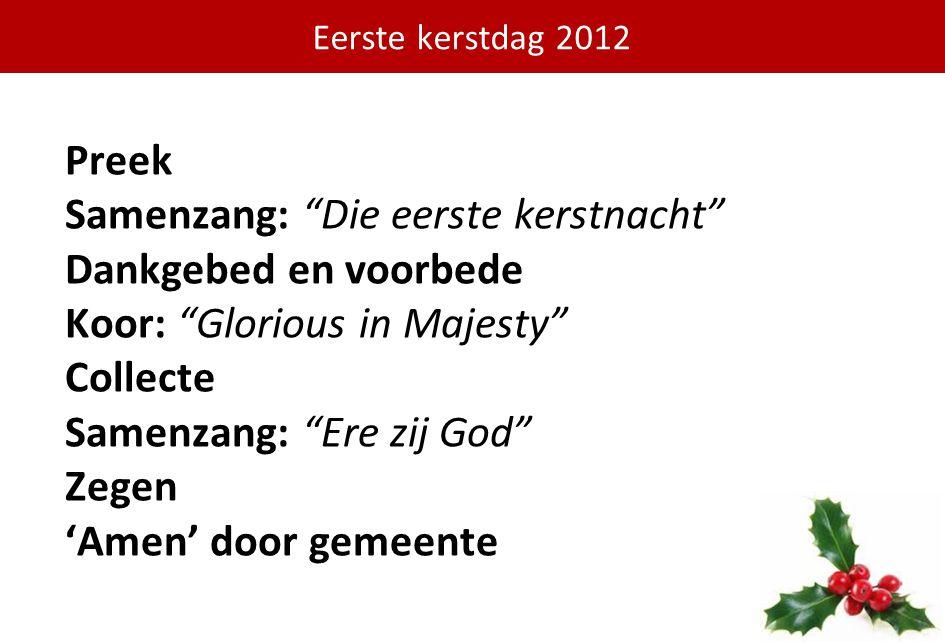 Eerste kerstdag 2012