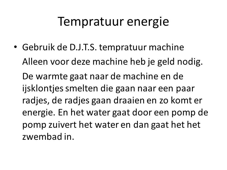 Tempratuur energie Gebruik de D.J.T.S. tempratuur machine