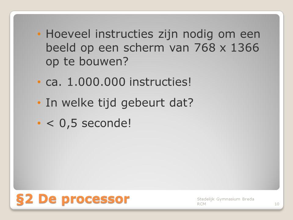 Hoeveel instructies zijn nodig om een beeld op een scherm van 768 x 1366 op te bouwen